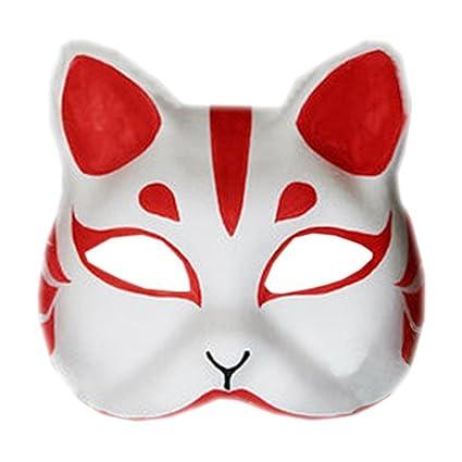SODIAL Mascara de zorro Accesorios y herramientas para juego de disfraz, Mascara hecha a mano