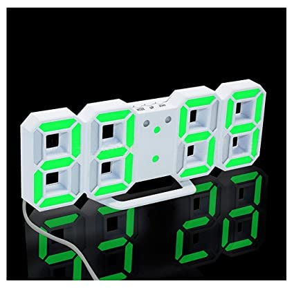 amcool LED Noche pared Reloj digital alarma reloj verde