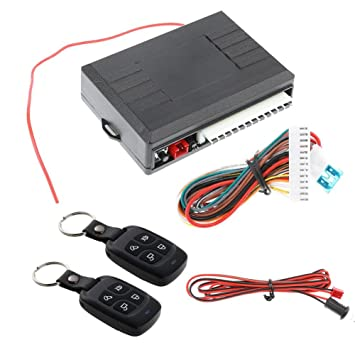 Asiright - Kit de cerradura de puerta de coche universal con mando a distancia