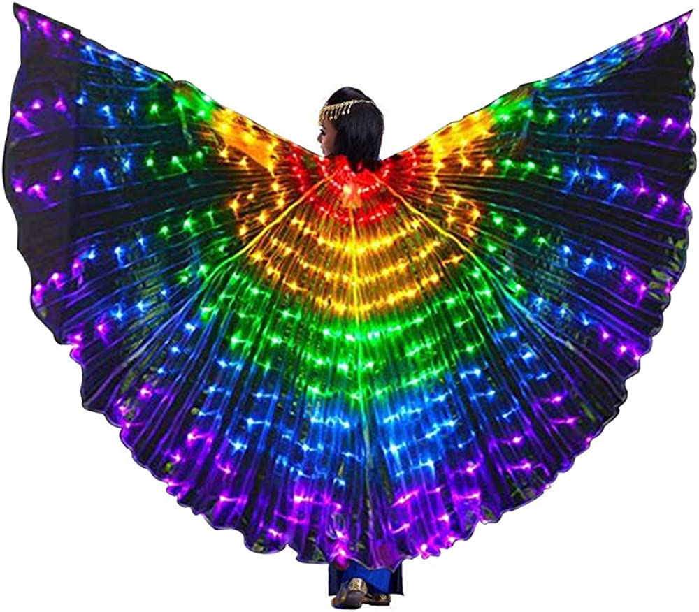 Large LED Butterfly Belly Dance Isis Wings Egypt Club Glowing Wings Costumes