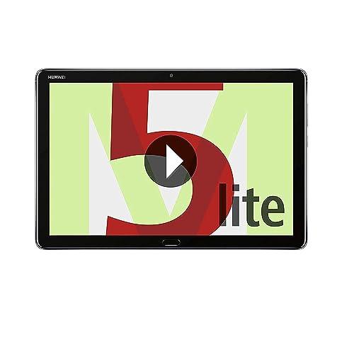 Huawei MediaPad M5 Lite 10 Tablet de 10 1 Full HD Wifi RAM de 3 GB ROM de 32 GB Android 8 0 EMUI 8 0 Procesador Octacore 2 4 GHz Color Gris