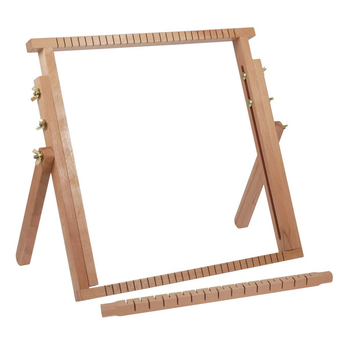 Milward Tissage extensible en bois de h/être 40 x 40-61 cm 40x40-61cm bois