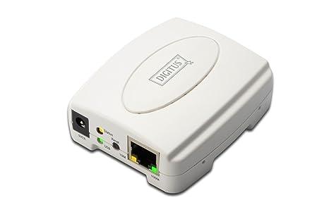 Digitus DN-13003-1 - Servidor de impresión (Ethernet LAN, IEEE 802.3, IEEE 802.3u, 10, 100 Mbit/s, TCP/IP/IPX/NetBEUI/AppleTalk, 230 x 150 x 70 mm, ...
