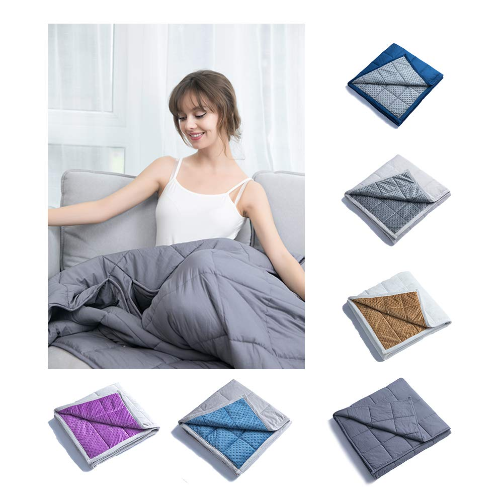 Young Life Gewichtete Decke für Erwachsene 150  200cm Weighted Decke für Erwachsene Einschlafen, schneller und Besser Gewichtete Decke 7kg ZLT-001