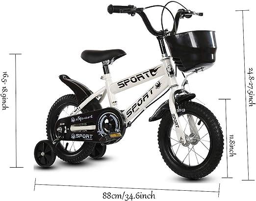 LWKBE Bicicleta de Equilibrio para niños de 2 – 6 años de Edad, 12 ...