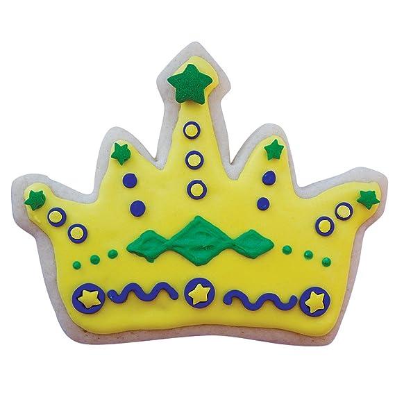 Amazon.com: Mardi Gras / New Orleans Cookie Cutter Set - 4 piece - King Crown, Princess Crown, Mask and Fleur de Lis - Ann Clark - Tin Plated Steel: Kitchen ...