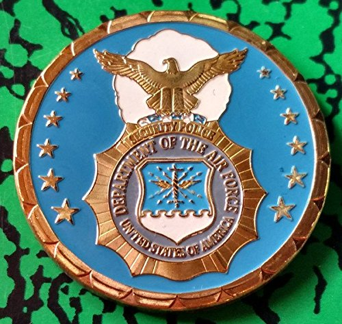USAF Air Force Security Police Law Enforcement Colorized Challenge Art Coin ()