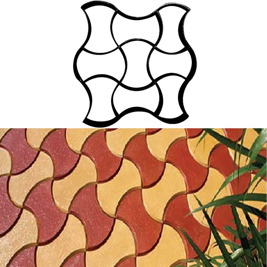 TuHao - Molde para Hacer Caminos, Reutilizable, para hormigón, Cemento, Piedra, diseño de pavimento, para pavimentar, pavimentar, pavimento, Patio, ...