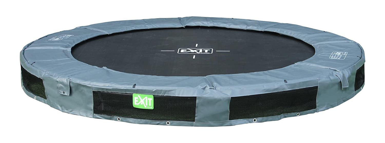 EXIT InTerra Inground-Trampolin ø244cm - grau