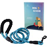 LUOLLOVE Dog Lead, Padded Handle Rope Dog Lead,Nylon Reflective Safety for Night Working(Blue)