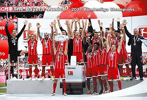 The Bayern Munich 2017 Bundesliga Champions Football Soccer Wall Decoration Poster by Maxis