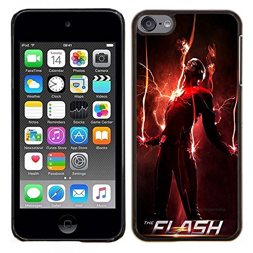 iPod Touch 5 Case, iPod Touch 6 Cases, The TV Series The Flash 20 Drop Protection Never Fade Anti Slip Scratchproof Black Hard Plastic (Female Cartoon Characters Names)