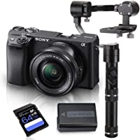 Kit Sony a6400 Mirrorless com Lente 16-50mm + Crane M + Bateria Extra + Cartão SDXC 64Gb de 95Mb/s