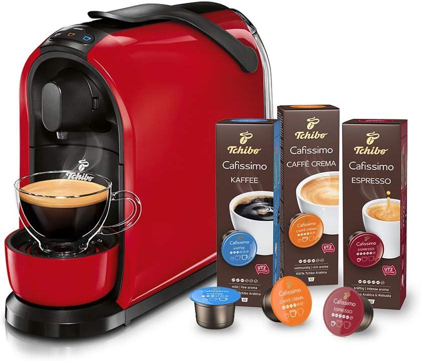 Tchibo Cafissimo Pure – Cafetera de cápsulas Red (roja), incluye 30 cápsulas: Amazon.es: Hogar