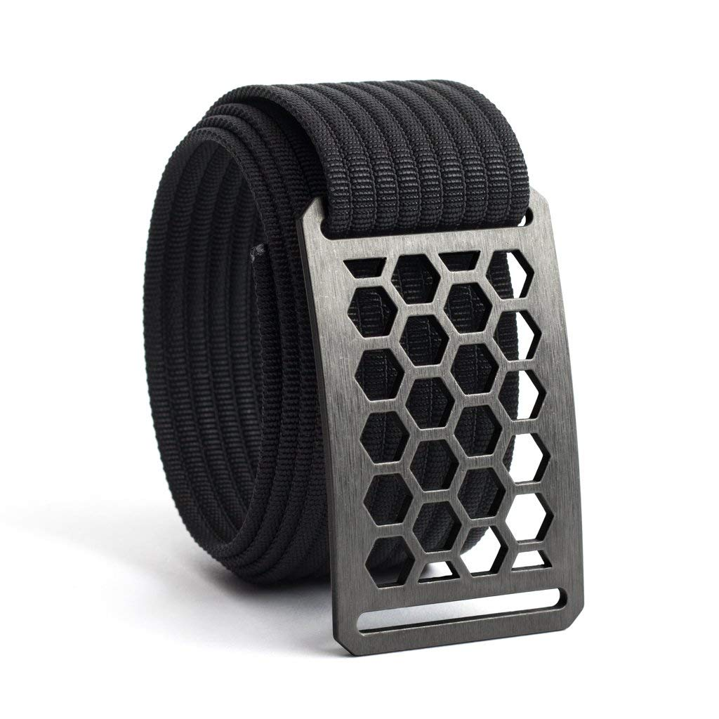 Men's Web Belt GRIP6 (40in Honeycomb w/Black Strap)