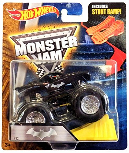 Hot Wheels Monster Jam Batman with Stunt Ramp #42, 1:64 Scale (Batman Jam)