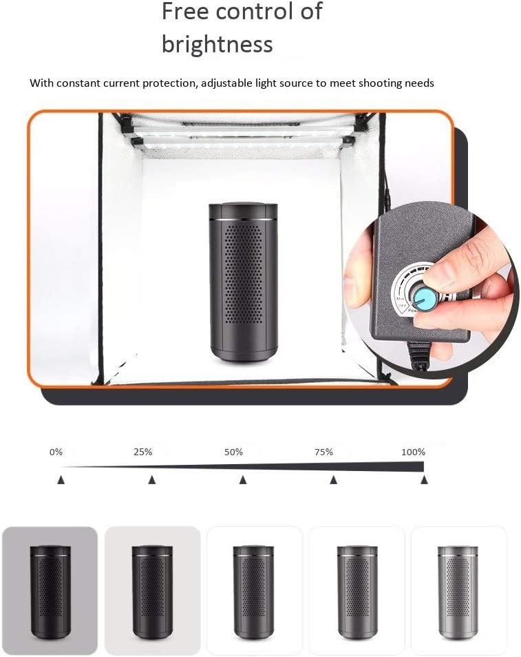 Food 202020 Inches Portable Photo Studio Box Folding Shooting Tent Kit with Brightness Dimmable LED Lights and 4 Backdrops for Jewellery IhDFR Professional Photo Light Box Shoes Photography