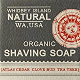 #4: Organic Shaving Soap -Yields a plethora of super-moisturizing lather. Blend of cedarwood, grapefruit and tea tree essential oils. Handmade in the Pacific Northwest, USA (Single Soap Bar)