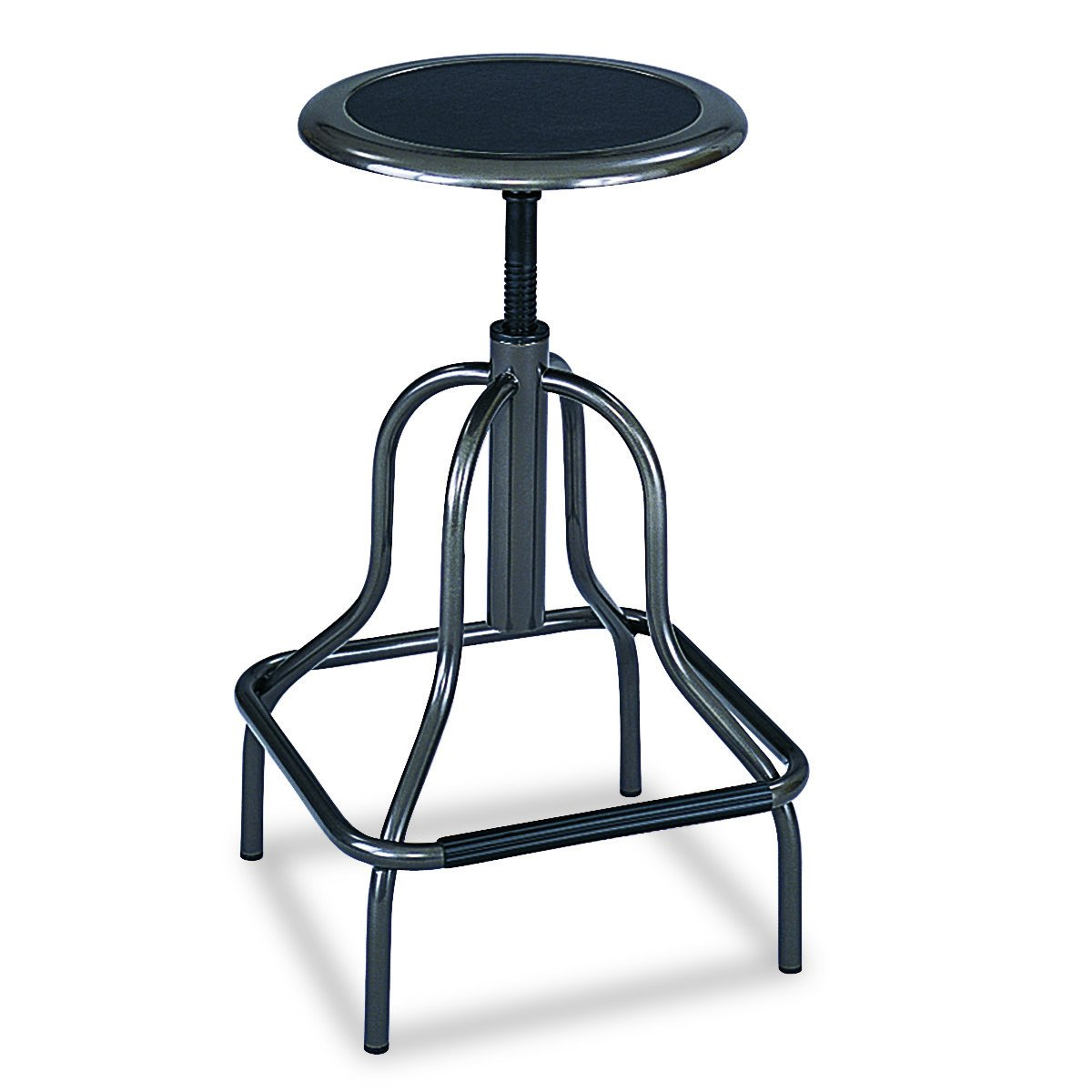 Safco Products Diesel Extended-Height Stool , Industrial Style, Steel Frame, Padded Seat, Height-Adjustable