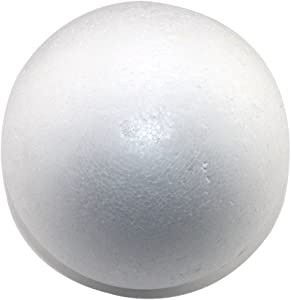 "Round 6"" Smooth Foam Polystyrene Craft Balls for Arts & Crafts, Floral Arrangements, Wedding Party Decorations, Centerpiece (12 Pack) Non-Styrofoam"