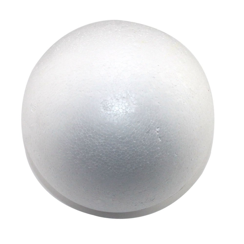 Round 6'' Smooth Foam Polystyrene Craft Balls for Arts & Crafts, Floral Arrangements, Wedding Party Decorations, Centerpiece (12 Pack) Non-Styrofoam by Super Z Outlet by Super Z Outlet
