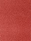 8 1/2 x 11 Cardstock - Holiday Red Sparkle (50 Qty.) | Perfect for the Holidays, Crafting, Invitations, Scrapbooking and so much more! |81211-C-MS08-50