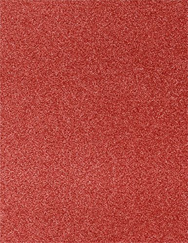 8 1/2 x 11 Cardstock - Holiday Red Sparkle (500 Qty.) | Perfect for the Holidays, Crafting, Invitations, Scrapbooking and so much more! |81211-C-MS08-500 by Envelopes.com