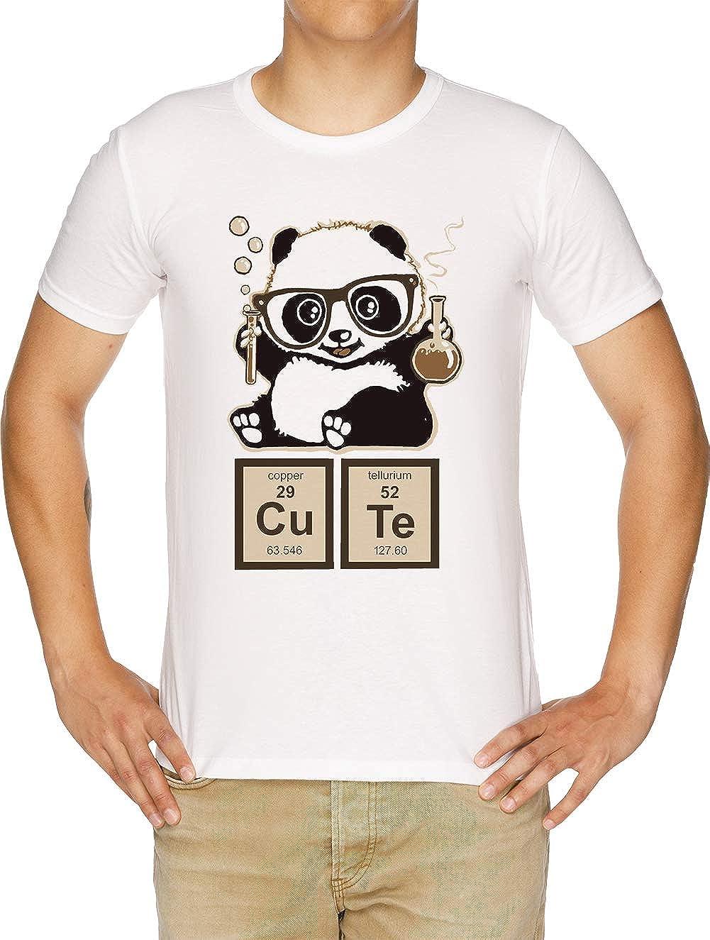 Química Panda Descubierto Linda Camiseta Hombre Blanco: Amazon.es: Ropa y accesorios