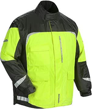 Tour Master Defender 2.0 Mens 2-Piece Street Bike Racing Motorcycle Rain Suit Black//Hi-Viz//X-Large