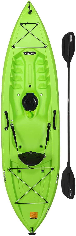 Lifetime Tahoma 100 カヤック 上に座るカヤック 120インチ ライム 水たまり付き バランス 安定 簡単パドル スポーツ アウトドア 釣り 休日 休暇 川 湖