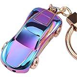 Key Chain Flashlight, JOBON Zinc Alloy Metal LED Light Car Keychain Multifunctio Key Ring for Men and Women Creative Best Gifts