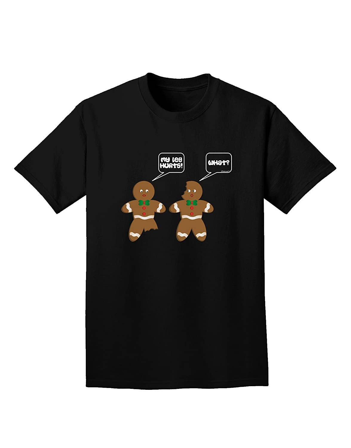 TooLoud Funny Gingerbread Conversation Christmas Adult Dark T-Shirt