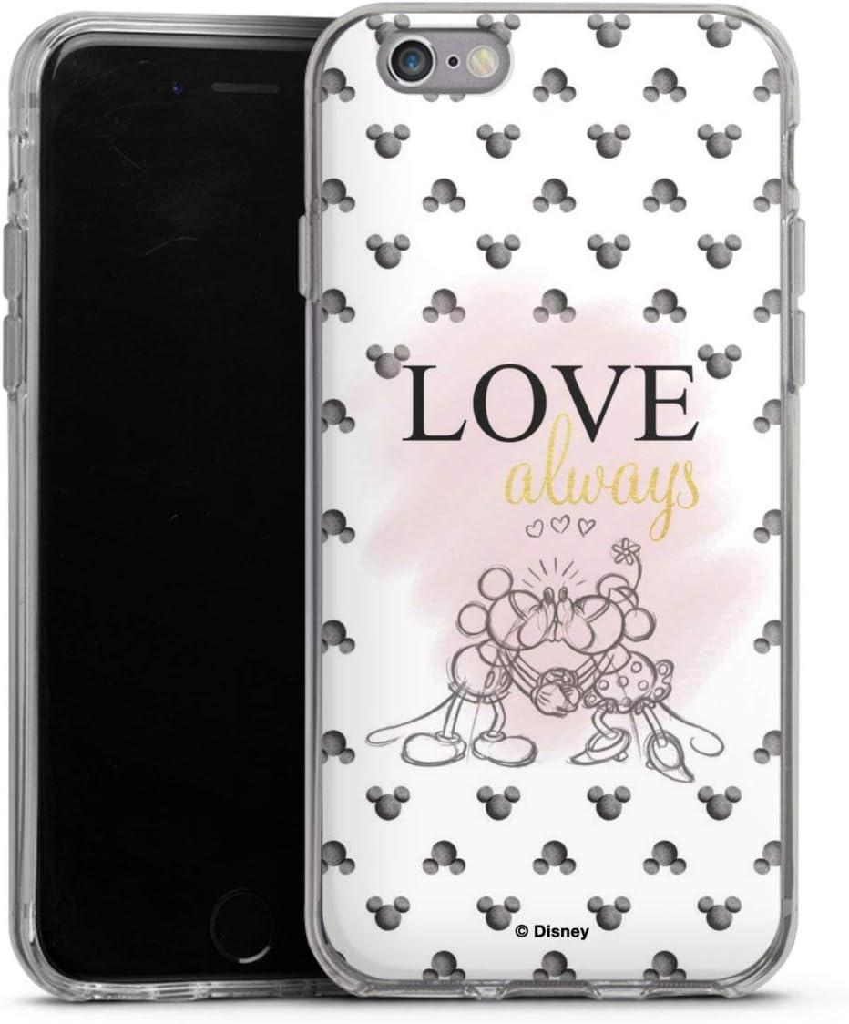 DeinDesign Silikon H/ülle kompatibel mit Apple iPhone 6s Case transparent Handyh/ülle Minnie Mouse Mickey Mouse Offizielles Lizenzprodukt