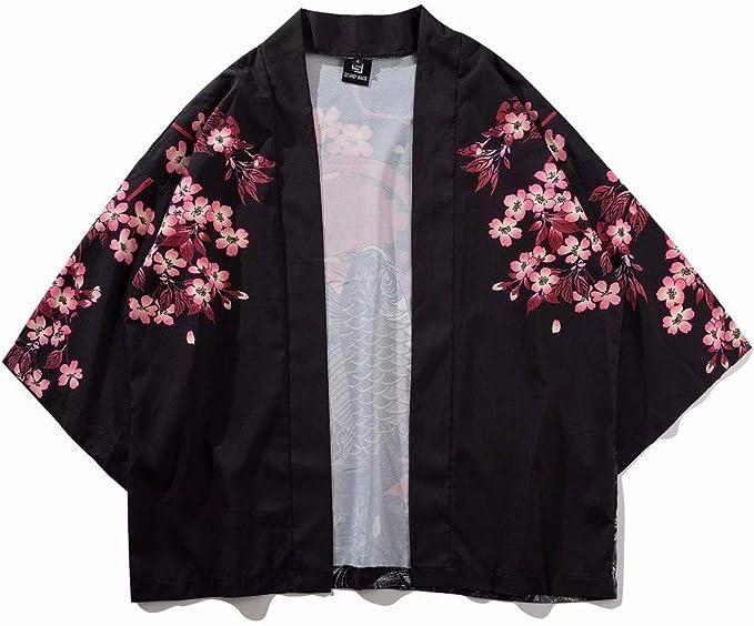 Blusas para Mujer Verano Manga 3/4,Traje de Kimono de Manga Tres ...