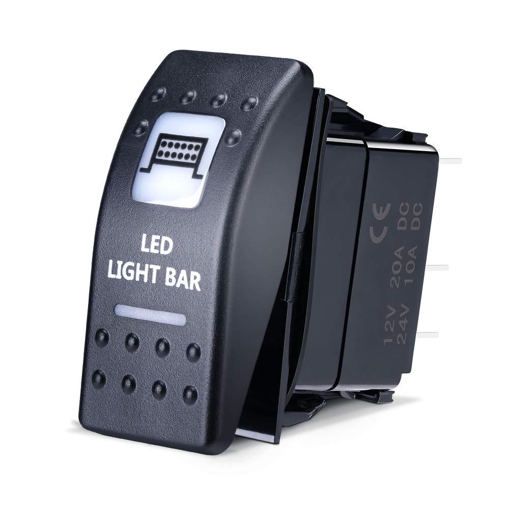 LED Light Bar Rocker Switch for UTV Polaris Ranger RZR Can Am Commander Maverick