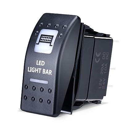 LED Light Bar Rocker Switch for UTV Polaris Ranger RZR Can Am Commander on