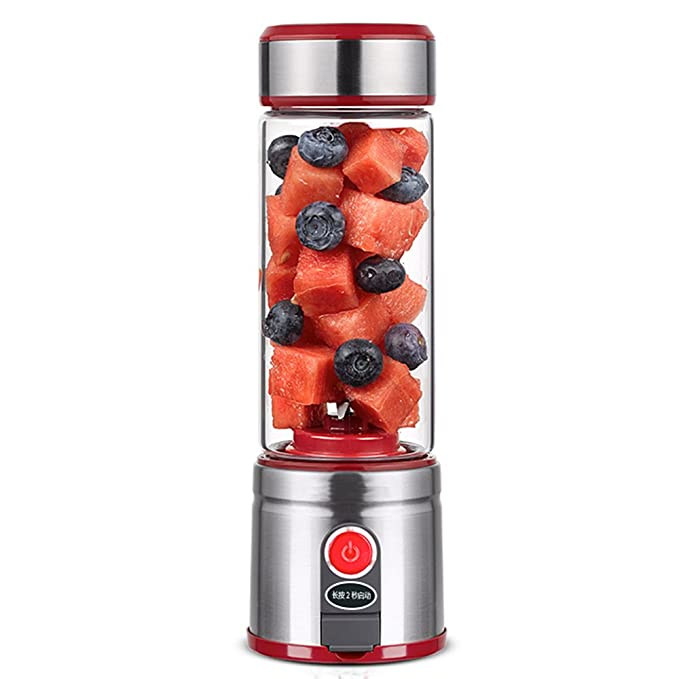 QARYYQ Juicer Household Fruit Small Rechargeable Fried Juicer Juice Cup Electric Portable Juicer