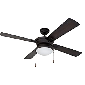 "Prominence Home 50345-01 52"" Auletta Outdoor Ceiling Fan Matte Black"