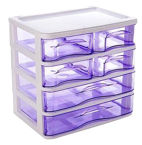 Office Plastic Desktop Storage Drawer Organizer - 6 Storage Cabinets Purple  sc 1 st  Amazon.com & Amazon.com : Office Plastic Desktop Storage Drawer Organizer - 6 ...