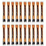Cyalume SnapLight Orange Light Sticks – 6 Inch Industrial Grade, High Intensity Glow Sticks with 12 Hour Duration (Pack of 20)