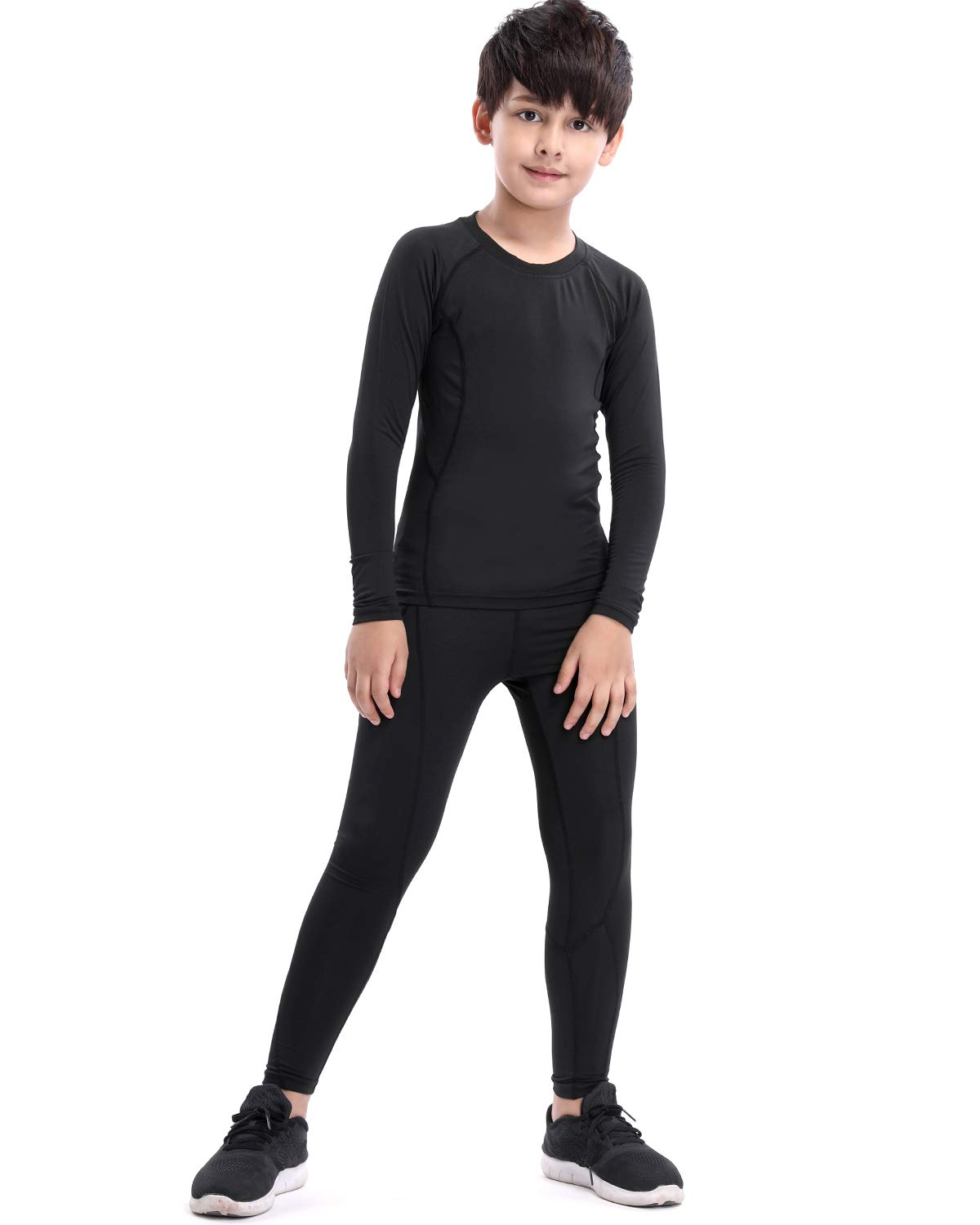 LNJLVI Boys & Girls Sports Compression Shirts Long Sleeve and Pant 2 PCS Set Ltd.
