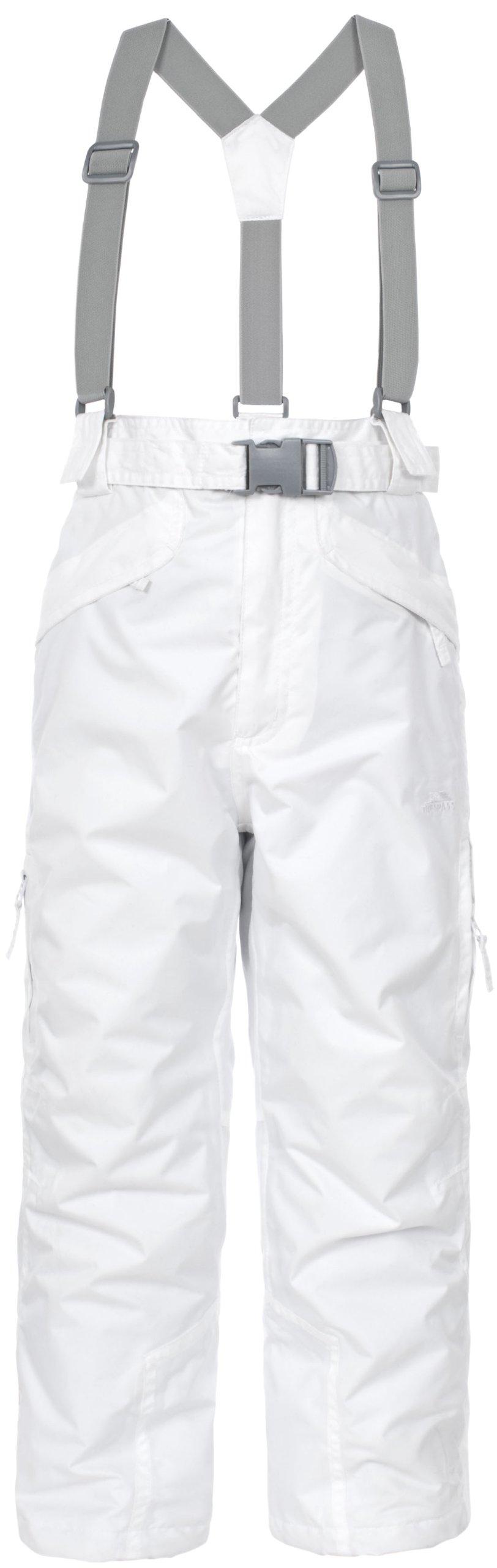 Trespass Kids Marvelous Unisex Snow Pant, White, 9/10