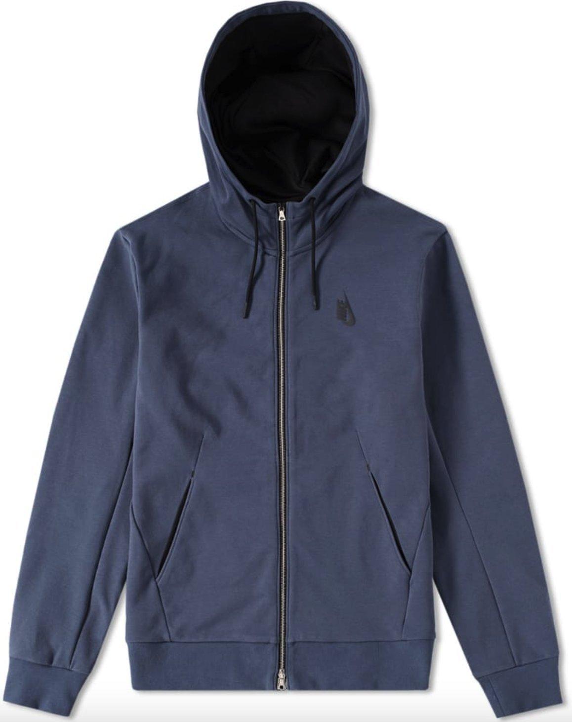 Nike Boys Therma Dri-Fit Front Zip-Up Hoodie Jacket Sweatshirt Purple 856138