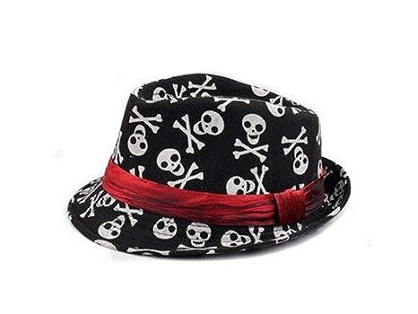 Gorra para niños pequeños Niños Skull Bowler Hat Kids Jazz Hat Sombrero de protección solar Gorra
