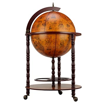 Awesome Homegear Globe Bar Drinks Cabinet