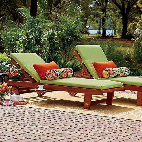 Wood Single Chaise Lounge - Espresso