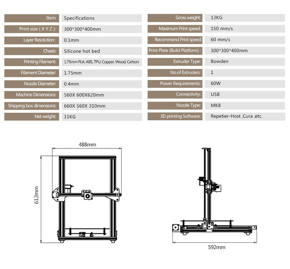 TEVO Tornado - Impresora 3D (95% montada, impresión 3D): Amazon.es ...
