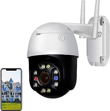 Opinión sobre XIAOSHEN Cámara de vigilancia IP WiFi para Exteriores, cámara PTZ de 5MP, visión Nocturna HD, Resistente al Agua, Compatible con Ranura TF/Almacenamiento en la Nube/ONVIF, Compatible con Android/iOS