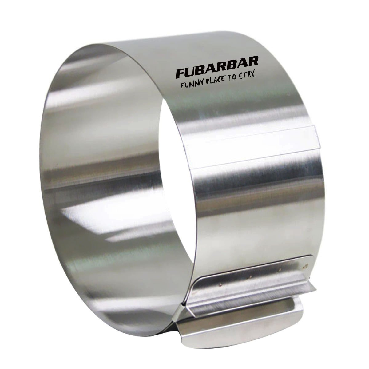 FUBARBAR Cake Ring Cutter Mold Decorating Pastry Ring with Pusher 3 X 2 Inch Stainless Steel Assorted Shape (Round 6