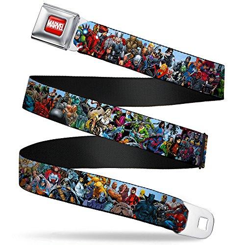 Buckle-Down Seatbelt Belt - Marvel Universe Heroes & Villains Portrait - 1.5